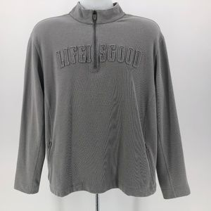 Good Move by Life is Good Gray 1/4 Zip Shirt